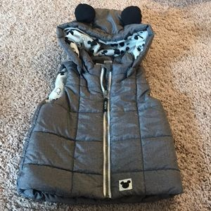 H&M Grey Mickey Mouse hooded gilet vest